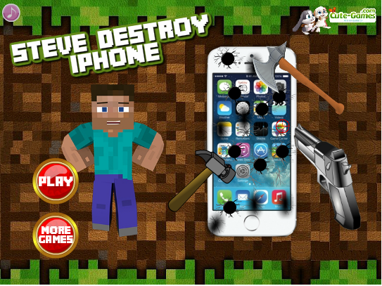 Minecraft: Steve Destroy Iphone